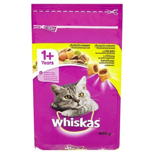 Whiskas granule pro kočky kuřecí 300g (100g=12kč)