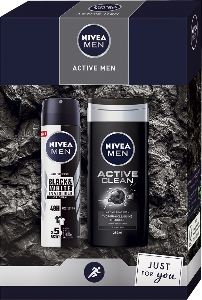 Nivea Men Active antiperspirant deodorant sprej 150 ml + sprchový gel 250 ml dár