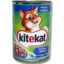 Kitekat konzerva rybí pro kočky 400g (100g=6.4kč)