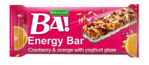 BA! energy bar brusinka+pomeranč+jogurt 40g