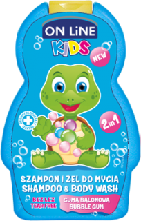 On Line Kids spr.gel+šampon buble gum 250ML
