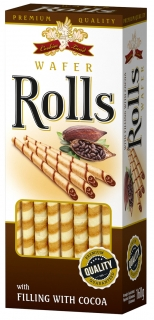 Cokiesland wafer rolls cacao 160g
